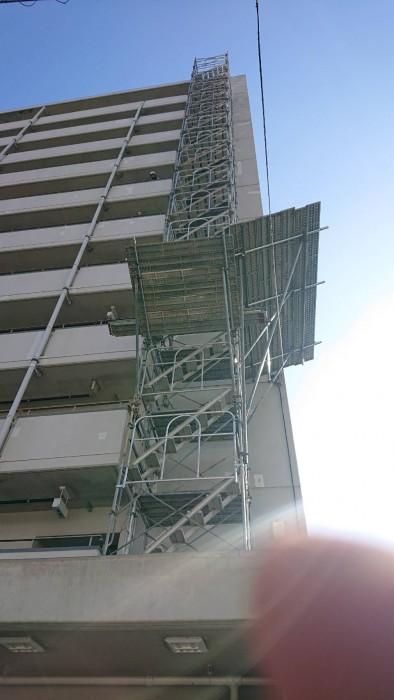 大阪市内の設備足場4
