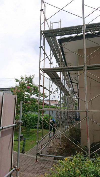 大阪、学校体育館設備足場5