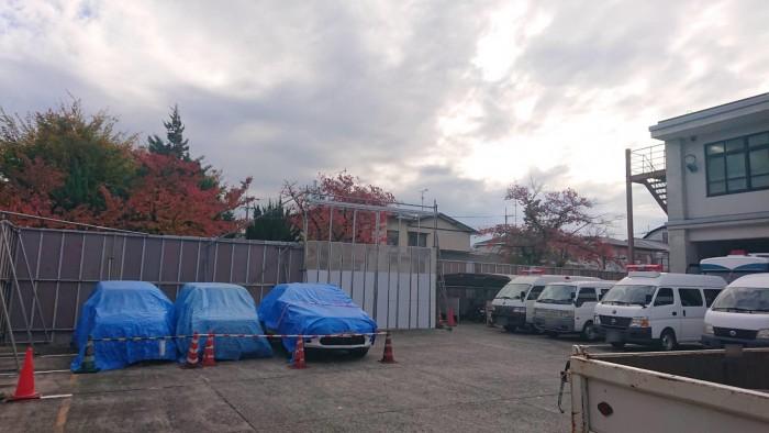 外周ブロック撤去に伴う仮設仮囲い6