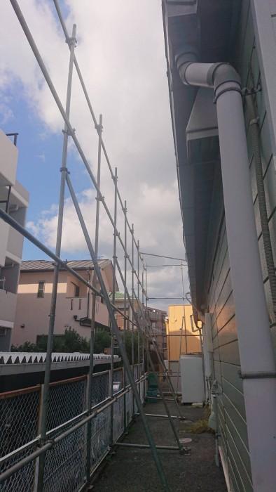 京都市内の店舗解体足場3