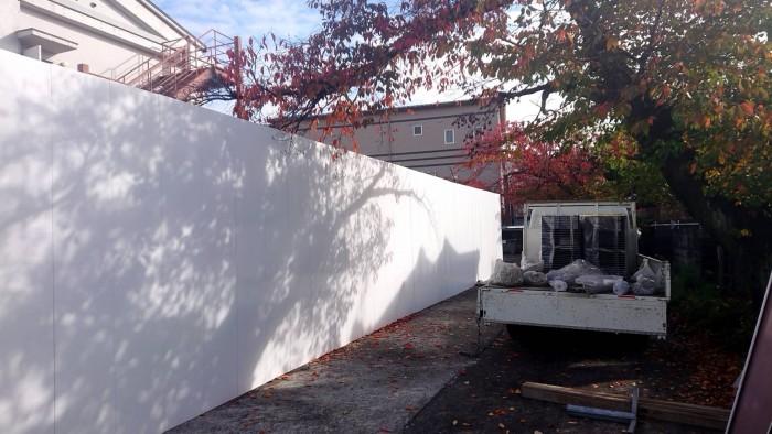 外周ブロック撤去に伴う仮設仮囲い3