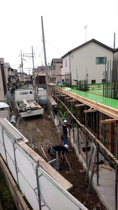 山科区新築マンション工事3