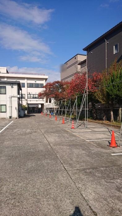 外周ブロック撤去に伴う仮設仮囲い2