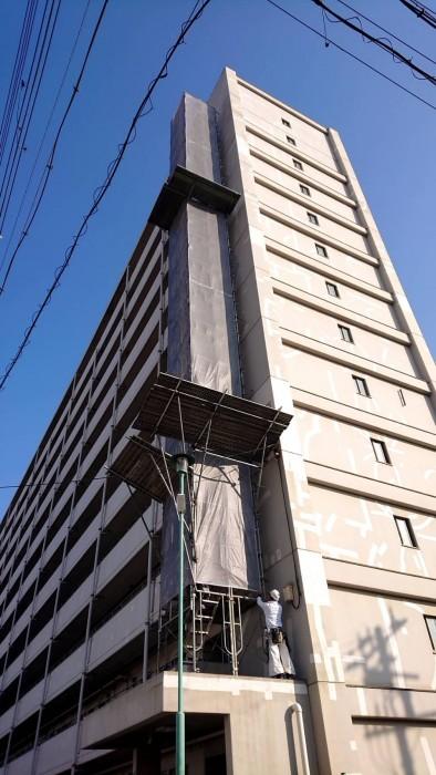 大阪市内の設備足場7