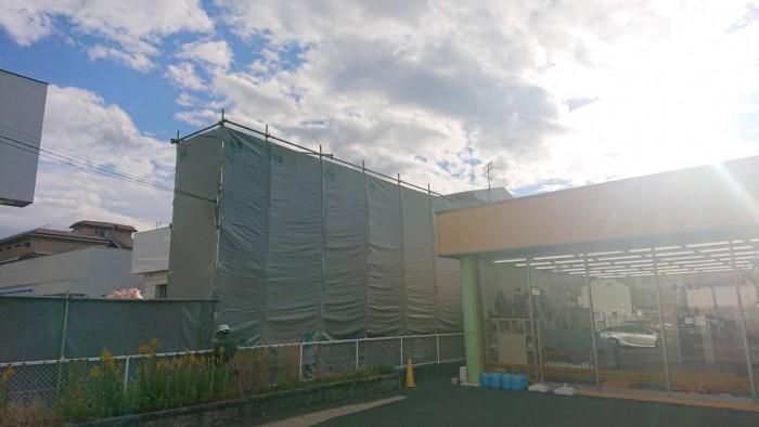 京都市内の店舗解体足場6