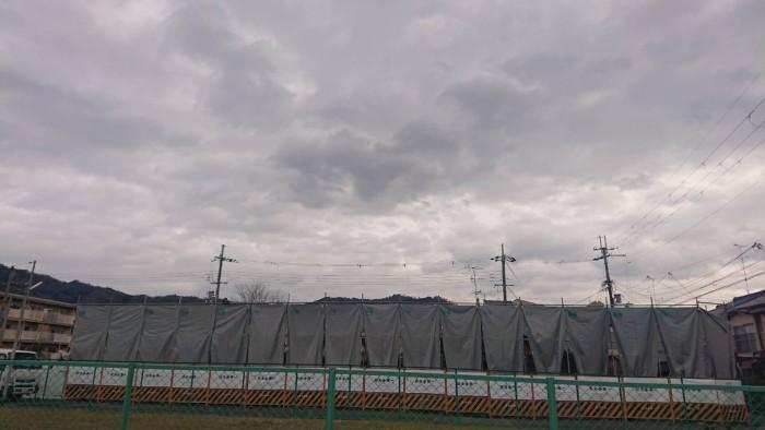京都市内の市営住宅の解体足場5