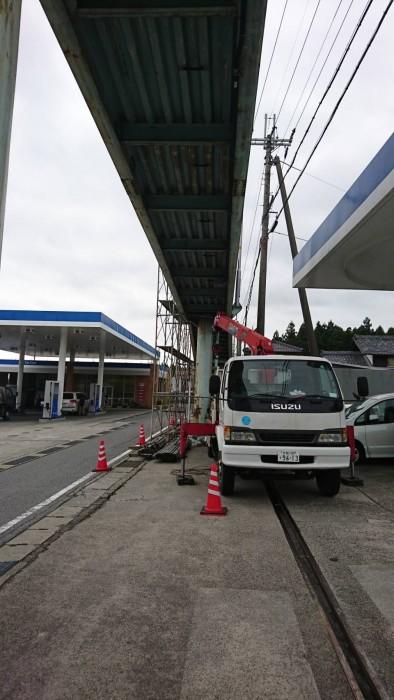 米原の歩道橋吊り足場 (2)