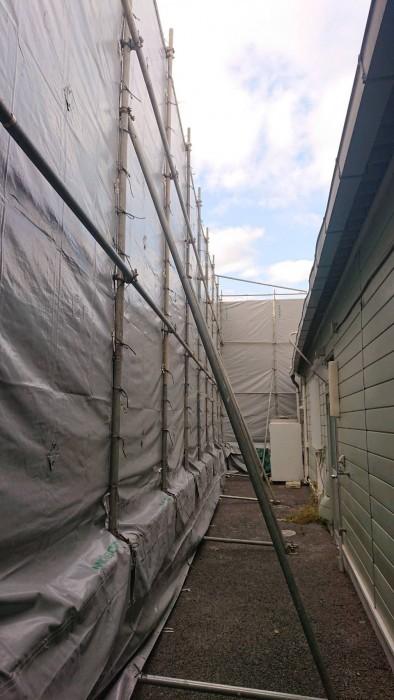 京都市内の店舗解体足場8