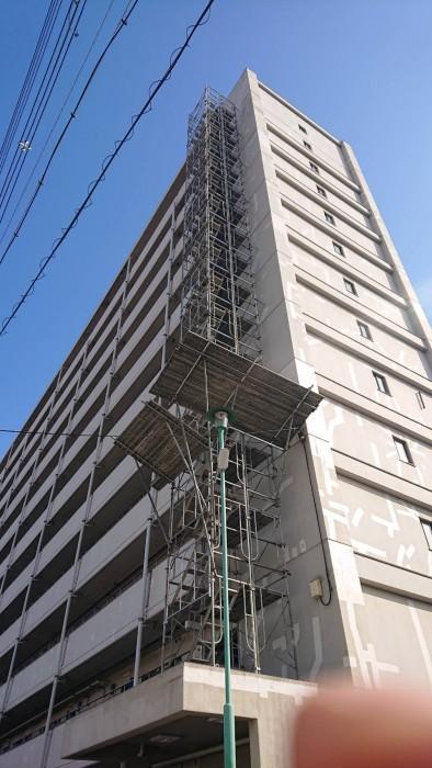 大阪市内の設備足場3