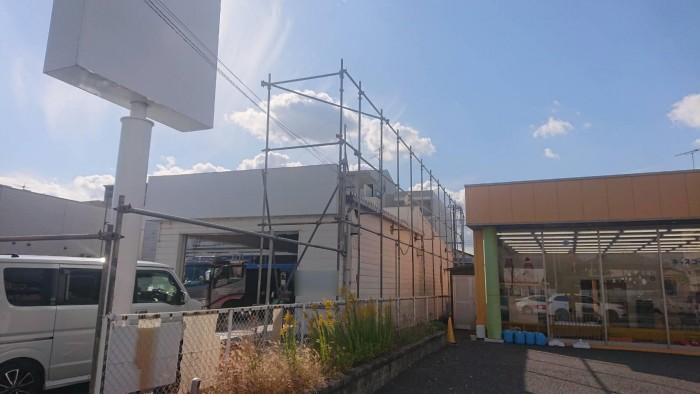 京都市内の店舗解体足場1
